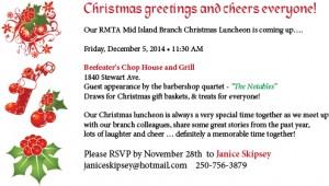 Mid Island BCRMTA Christmas Luncheon